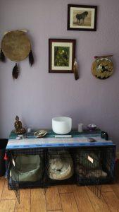 My dog kennel altar